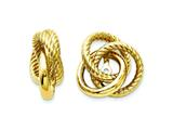 14k Polished and Twisted Love Knot Earring Jackets style: TH224