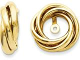 14k Polished Love Knot Earring Jackets style: TH225