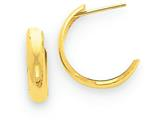14k Polished 3.5mm J-hoop Earrings style: TH336