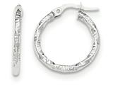 14k Polished And Textured Hoop Earrings style: TH668