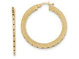 14k Textured Hoop Earrings style: TH688