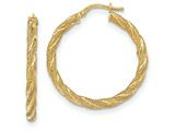 14k Twisted Textured Hoop Earrings style: TH695