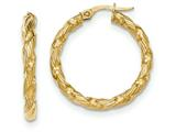 14k Twisted Textured Hoop Earrings style: TH697