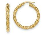 14k Twisted Textured Hoop Earrings style: TH697