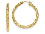 14k Twisted Textured Hoop Earrings style: TH698