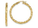 14k Twisted Textured Hoop Earrings style: TH699