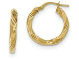 14k Twisted Textured Hoop Earrings style: TH704