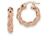 14k Rose Gold Twisted Hoop Earrings style: TH722