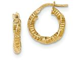 14k Twisted Textured Hoop Earrings style: TH723