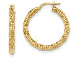 14k Twisted Textured Hoop Earrings style: TH727