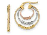 14k Tri-colored Hoop Earrings style: TH762