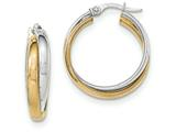 14k Two-tone Hoop Earrings style: TH771