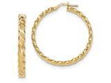 14k Textured Scalloped Edge Hoop Earrings style: TH783