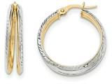 14k W/ White Rhodium Hoop Earrings style: TH787