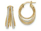 14k Polished Glitter Infused Small Oval Hoop Earrings style: TH805