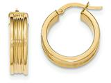 14k Polished Small Round Hoop Earrings style: TH825