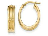 14k Polished Small Oval Hoop Earrings style: TH830