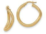 14k Textured Hoop Earrings style: TH838