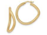 14k Textured Hoop Earrings style: TH840