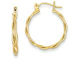 14k Polished Twisted Circle Hoop Earrings style: TL596