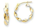 14k Polished 2.75mm Fancy Twisted Hoop Earrings style: TM232