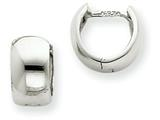 14k White Gold Hinged Hoop Earrings style: TM616