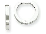14k White Gold Hinged Hoop Earrings style: TM620