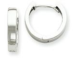 14k White Gold Hinged Hoop Earrings style: TM623