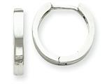 14k White Gold Hinged Hoop Earrings style: TM625
