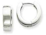 14k White Gold Hinged Hoop Earrings style: TM631