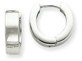 14k White Gold Hinged Hoop Earrings style: TM631