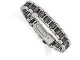 Chisel Tungsten Polished And Matte Bracelet style: TUB12085