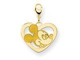 Disney Mickey Heart Lobster Clasp Charm style: WD100GP