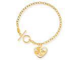 Disney 7.5inch Mickey Heart Charm Bracelet style: WD102Y