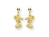 Disney Mickey Dangle Post Earrings style: WD103GP