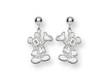 Disney Waving Mickey Dangle Post Earrings style: WD105SS