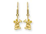 Disney Waving Mickey Dangle Wire Earrings style: WD106GP