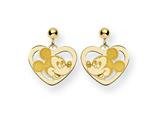 Disney Mickey Heart Dangle Post Earrings style: WD107GP