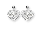 Disney Mickey Heart Dangle Post Earrings style: WD107SS