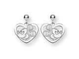 Disney Mickey Heart Dangle Post Earrings style: WD107W
