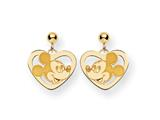 Disney Mickey Heart Dangle Post Earrings style: WD107Y