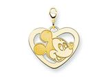Disney Mickey Heart Lobster Clasp Charm style: WD111GP