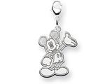 Disney Waving Mickey Lobster Clasp Charm style: WD117SS