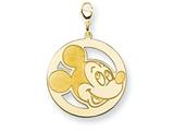 Disney Mickey Round Lobster Clasp Charm style: WD127GP