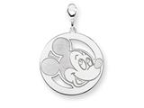 Disney Mickey Round Lobster Clasp Charm style: WD127SS