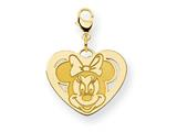 Disney Minnie Heart Lobster Clasp Charm style: WD135GP