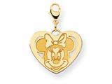 Disney Minnie Heart Lobster Clasp Charm style: WD135Y