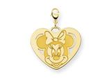 Disney Minnie Heart Lobster Clasp Charm style: WD141GP