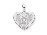 Disney Minnie Heart Lobster Clasp Charm style: WD141SS