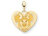 Disney Minnie Heart Lobster Clasp Charm style: WD141Y